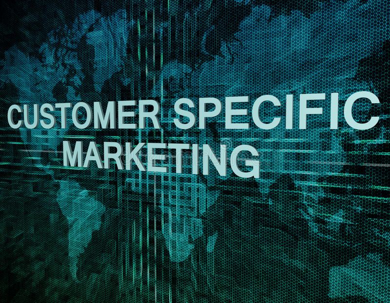 Customer Specific Marketing royalty free illustration