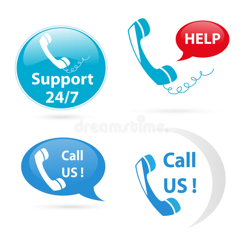 Download Customer support stock vector. Image of buttons, telephone - 22152461