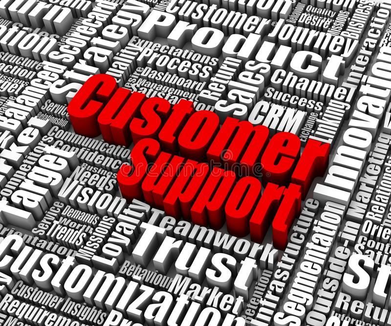 Download Customer Support stock illustration. Image of service - 26500456
