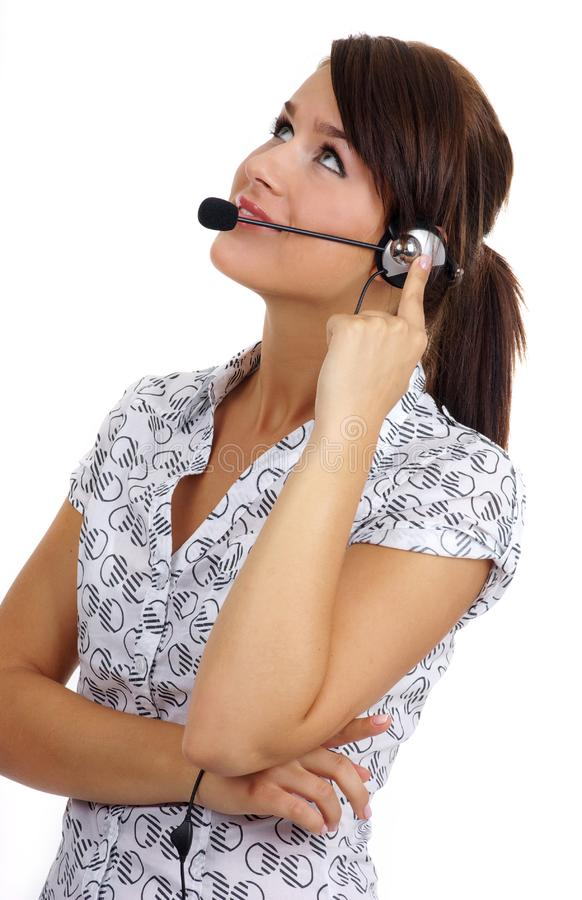 Customer support agent stock images