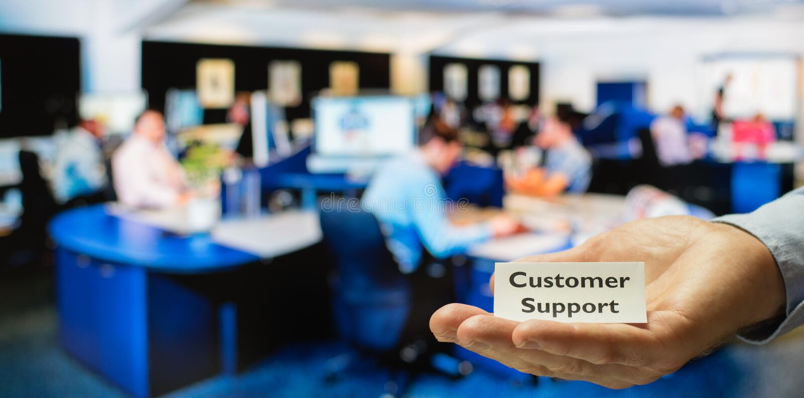 Customer support center royalty free stock image