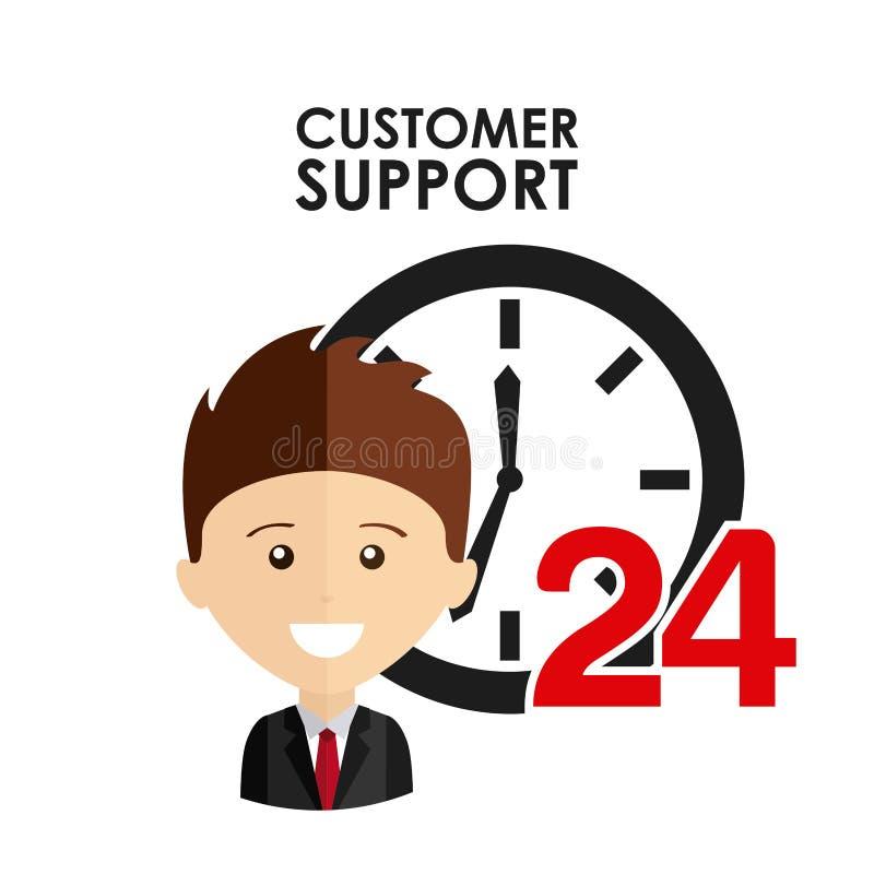 Customer support. Design, illustration eps10 graphic royalty free illustration