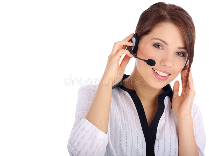 Download Customer support girl stock image. Image of centre, confident - 6463499