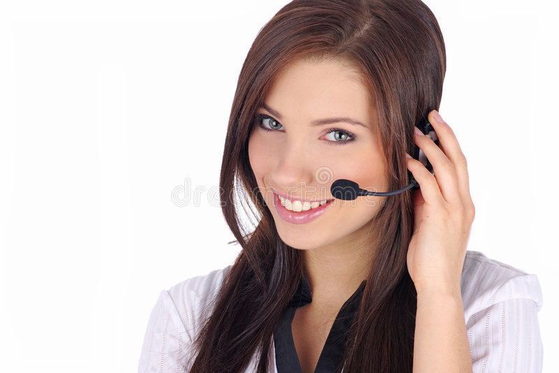 Download Customer Support Girl Royalty Free Stock Photography - Image: 6735117