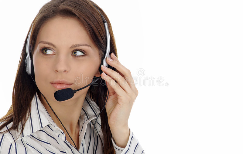 Download Customer Support Girl.Call Center Stock Photos - Image: 4649073