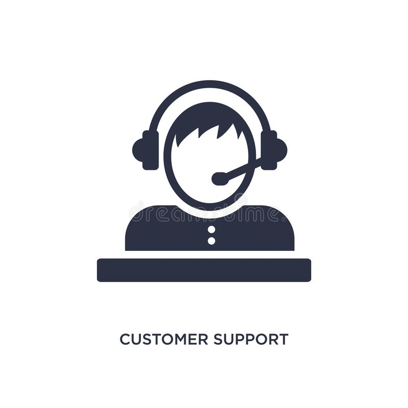 customer support icon on white background. Simple element illustration from strategy concept stock illustration