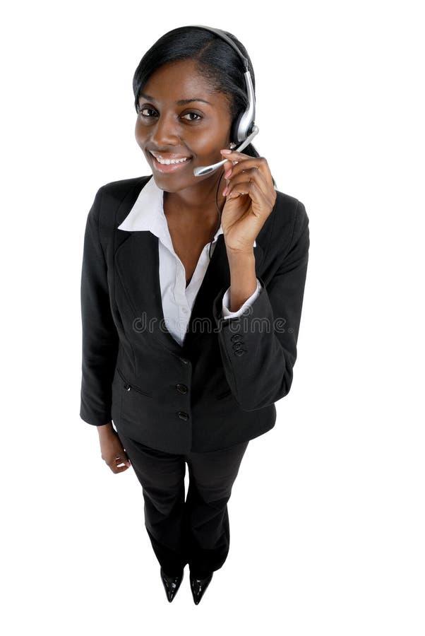Customer support operator stock photo