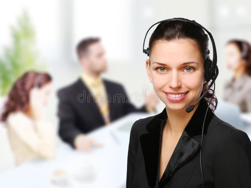 Customer support operator woman royalty free stock images