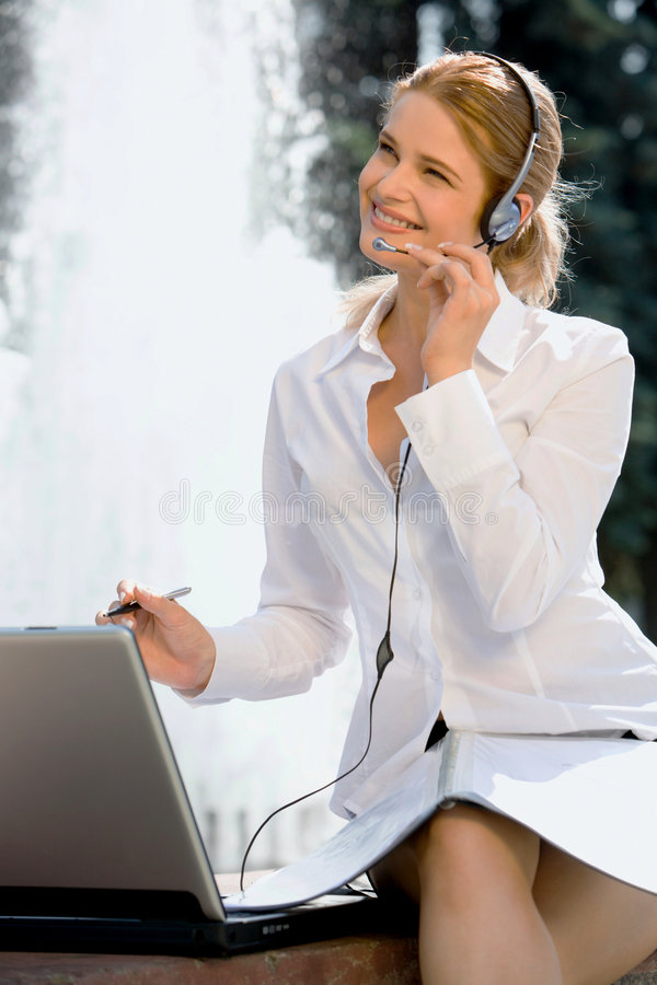Customer support service stock photo