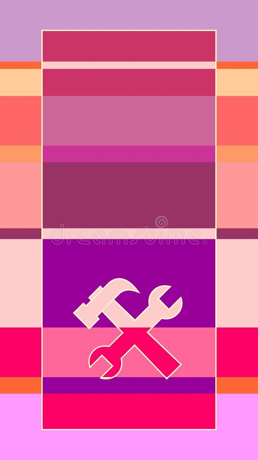 Customer support service abstract background stock illustration