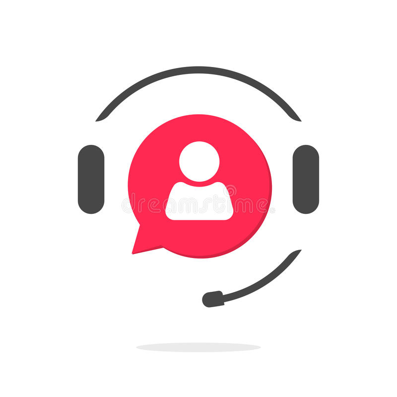 Customer support vecot icon, phone assistant logo royalty free illustration