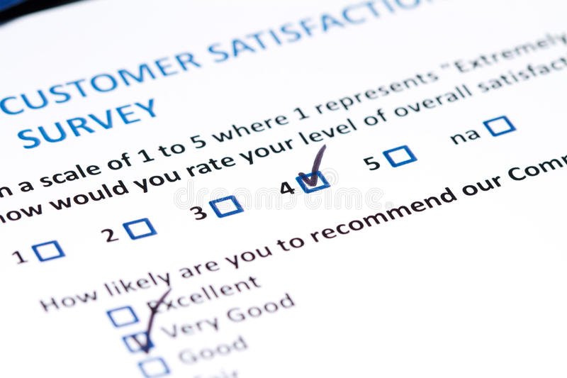 Customer Survey Stock Photo Image Of Answers Form Choice