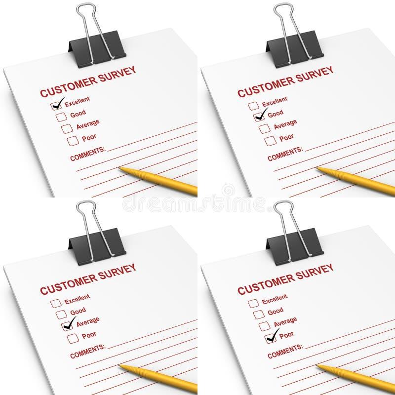Customer survey answers
