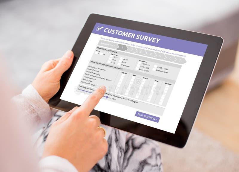 Customer survey royalty free stock photo