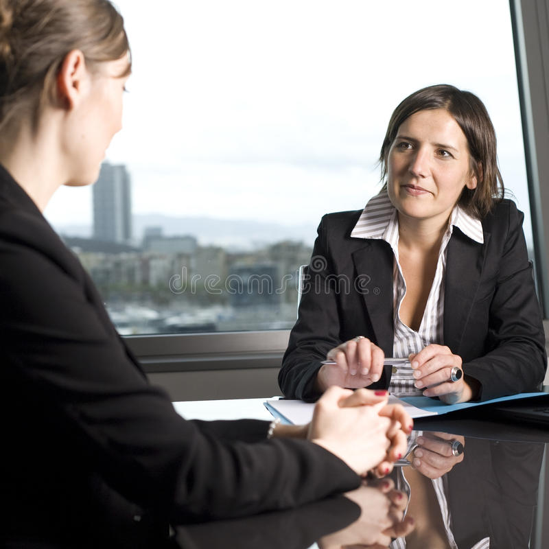 Customer talk stock photography