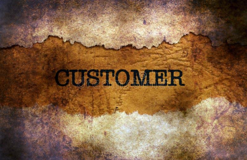 Customer text on grunge background royalty free stock photo