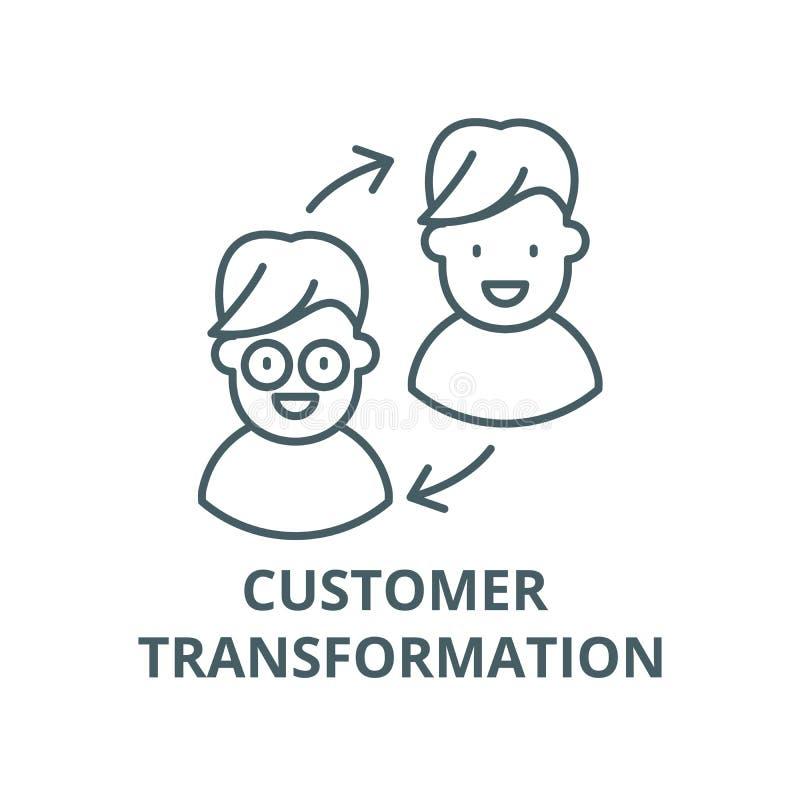 Customer Transformation Line Icon Concept  Customer