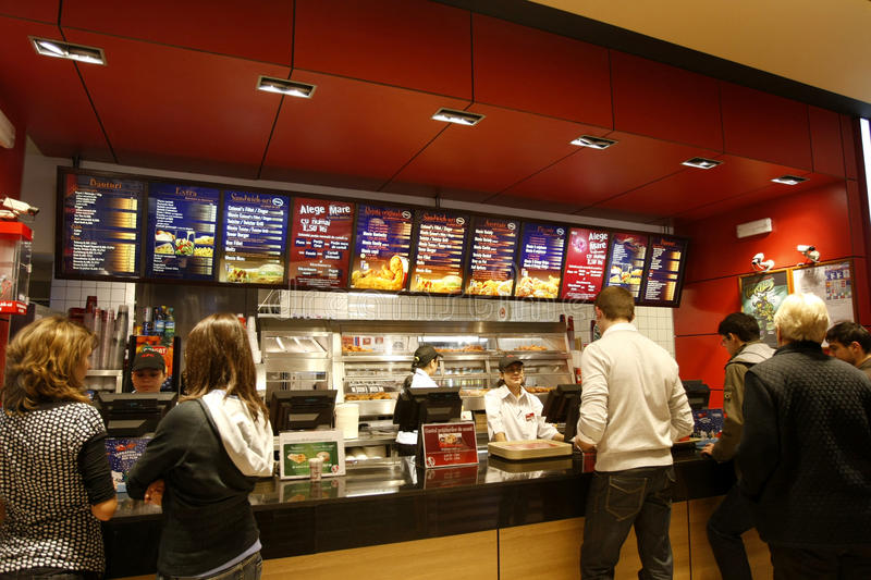 Customers buying fast food royalty free stock photography