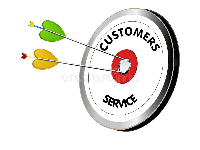 Customers service on the target stock illustration