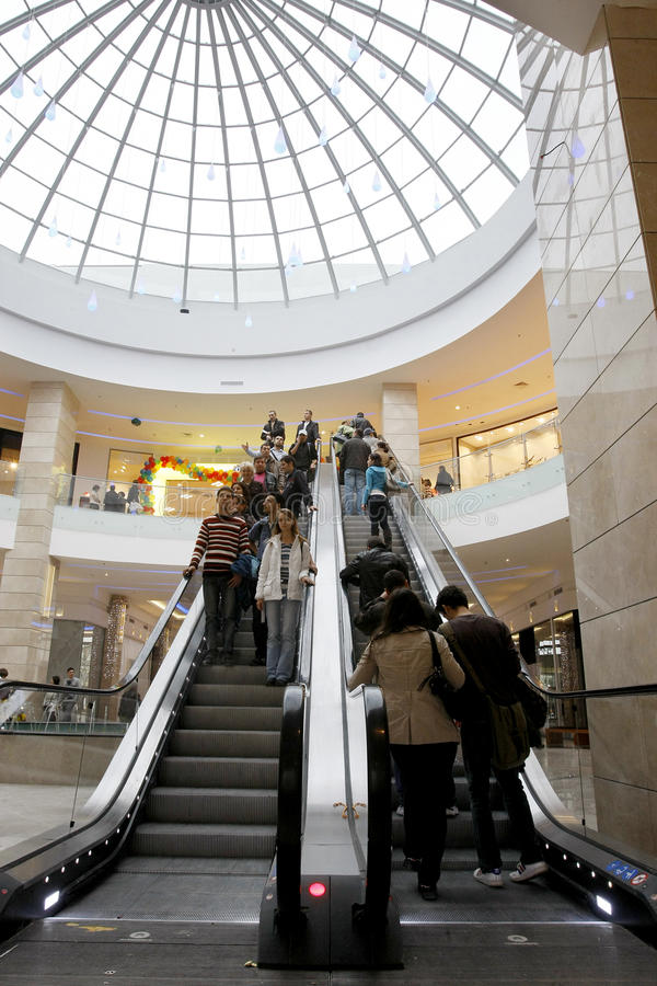 Customers shopping in mall royalty free stock images