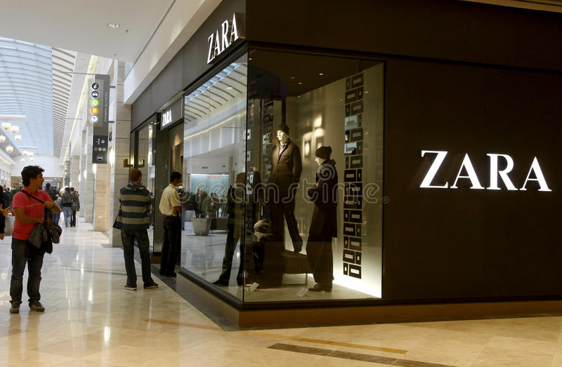 Customers shopping in mall - Zara store royalty free stock photos