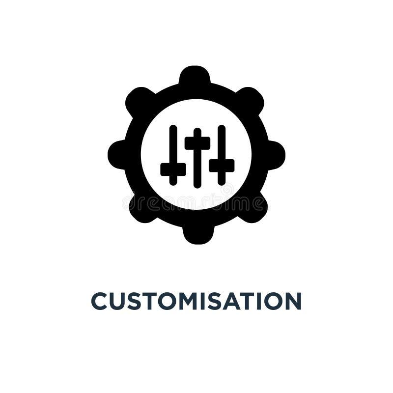 customisationsymbol design för customisationbegreppssymbol, vektor vektor illustrationer