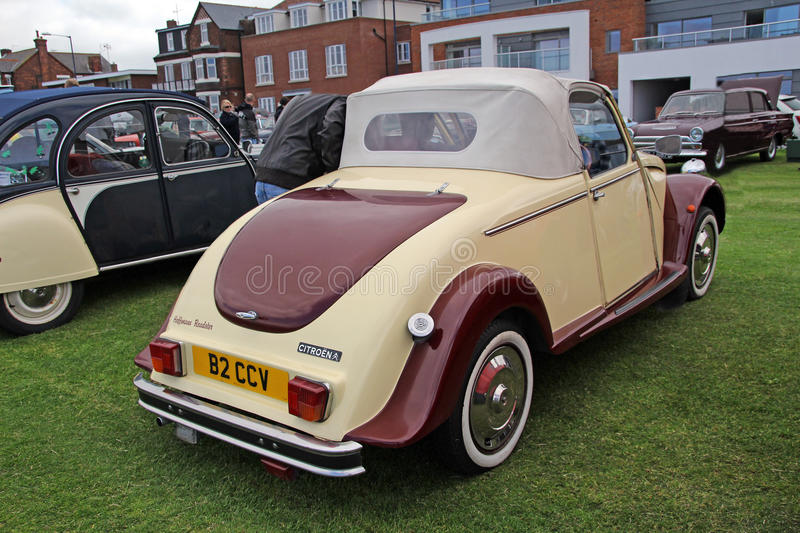 Customised citroen hoffmann roadster. Photo of a customised citroen hoffmann roadster showing at whitstable vintage car show on 8th june 2013. photo useful for royalty free stock photos