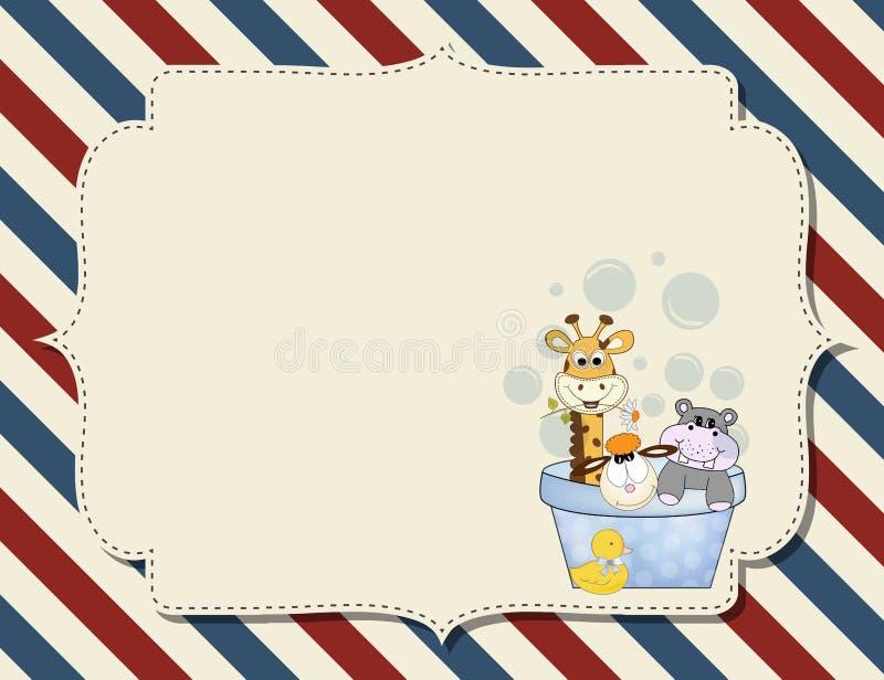 Customizable barnslig bakgrund royaltyfri illustrationer