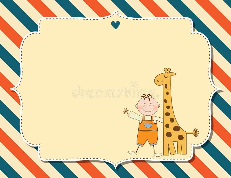Customizable barnslig bakgrund stock illustrationer