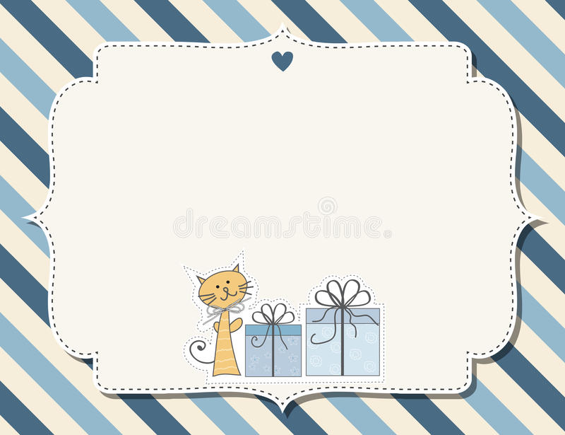 Customizable barnslig bakgrund vektor illustrationer