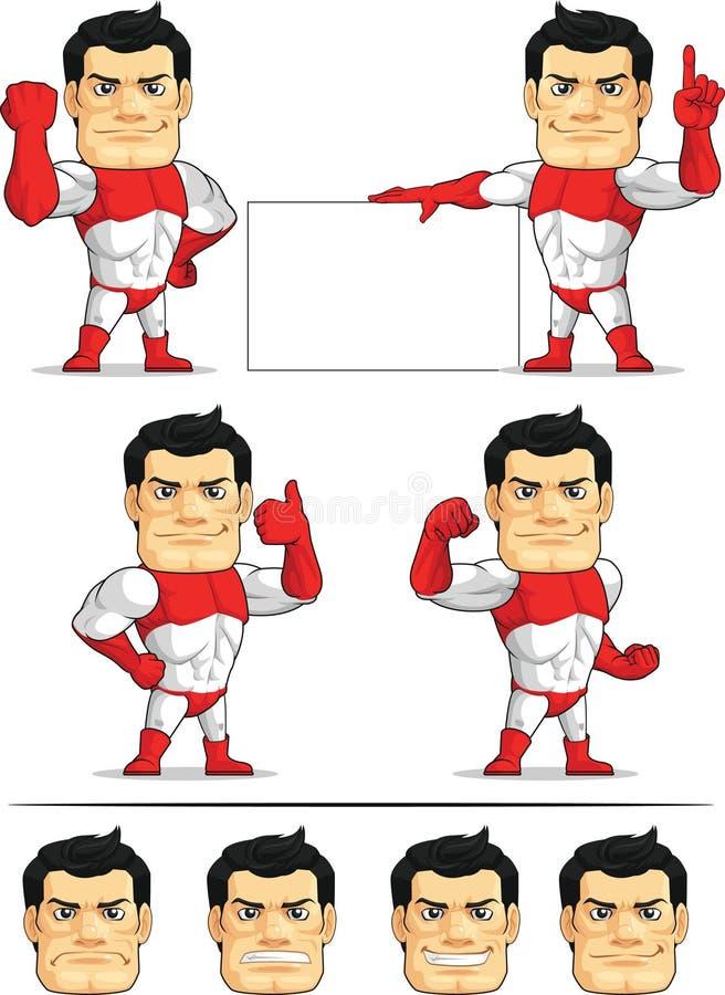 Customizable maskot 3 för Superhero royaltyfri illustrationer
