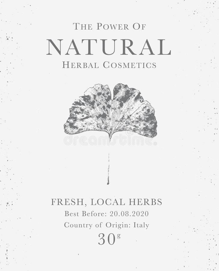 Customizable tappningetikett av naturliga organiska växt- produkter royaltyfri illustrationer