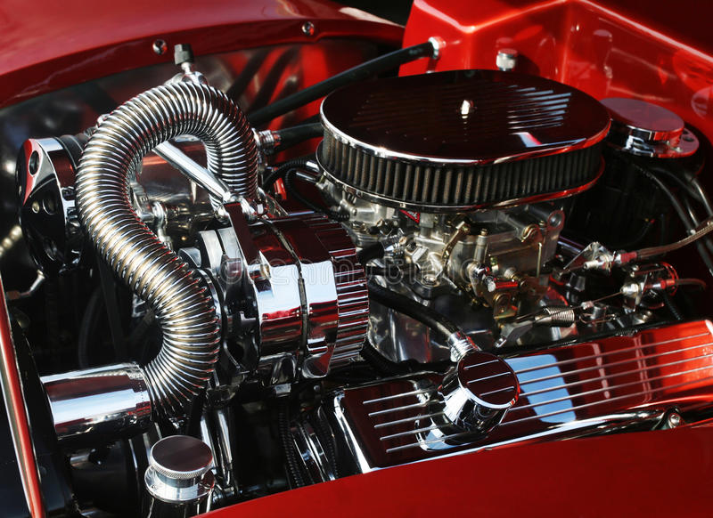 Customized car engine royalty free stock image