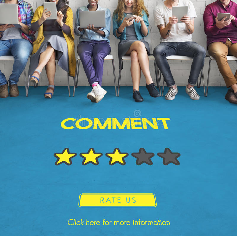Customre Feedback Comment Vote Review Results Concept stock photo