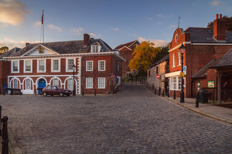 Customs House in Exeter. Evening light royalty free stock photography