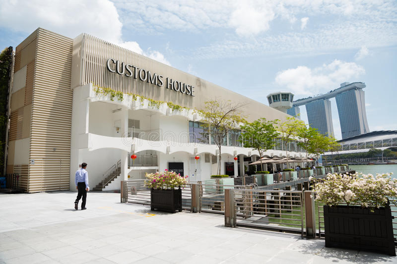 Download customs house on the waterfront in singapore editorial image image of modern sands