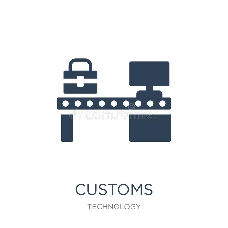 customs icon in trendy design style. customs icon isolated on white background. customs vector icon simple and modern flat symbol royalty free illustration