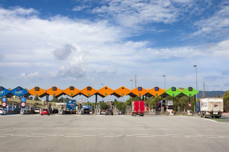 Customs wynagrodzenia autostrady płatnej stacja obraz stock