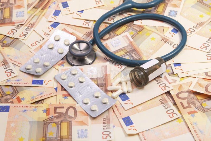 Custos crescentes da saúde foto de stock