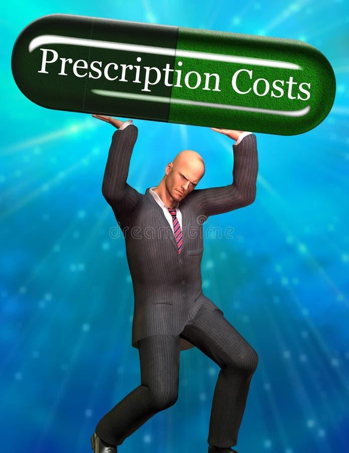Custos da prescrição ilustração stock