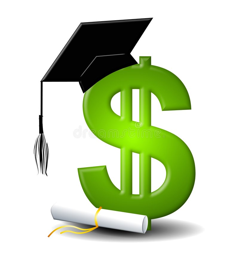 Custos da taxa de matrícula da instrução ilustração royalty free
