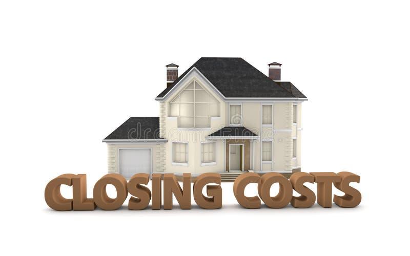 Custos de fechamento de Real Estate foto de stock