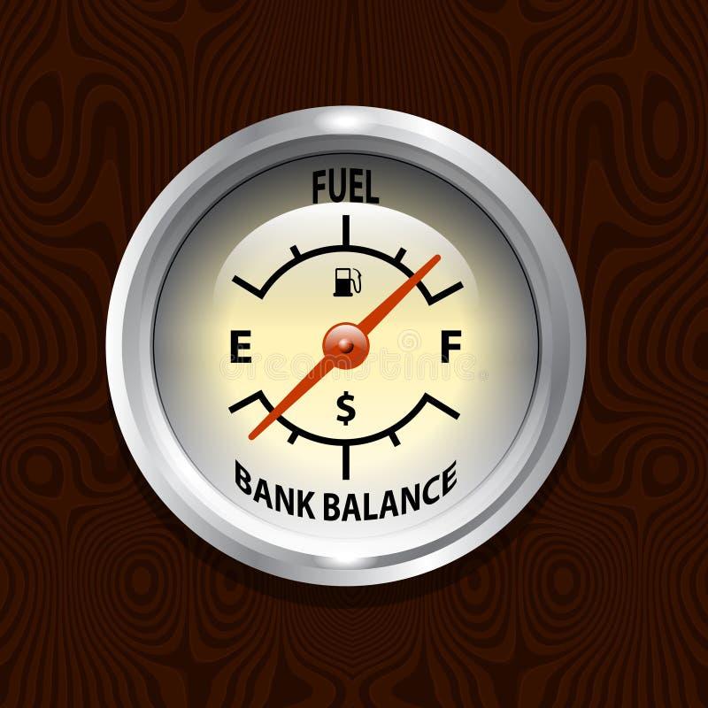 Custos do combustível ilustração royalty free