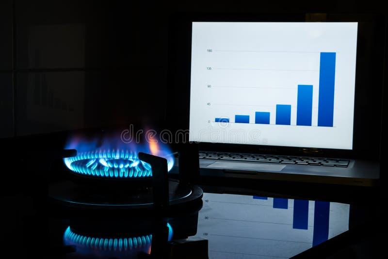 Custos do combustível de aumentação imagem de stock royalty free