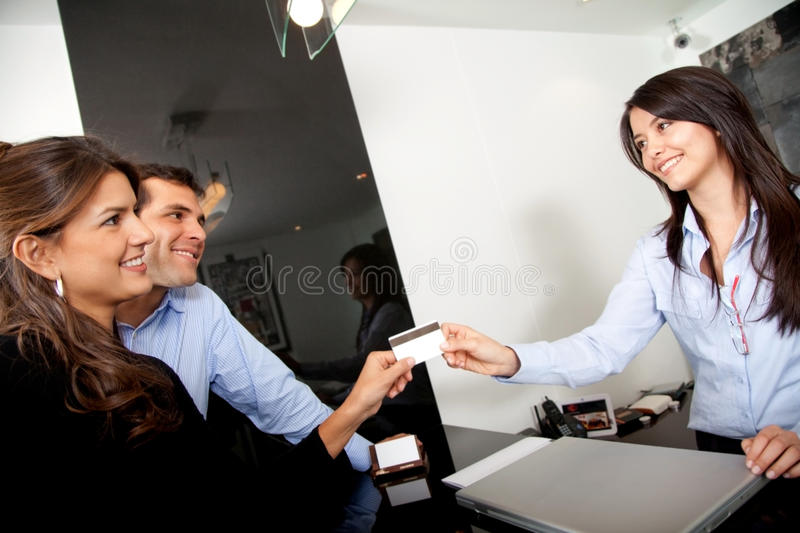 Download Custumers Paying At The Hotel Stock Photo - Image: 12087306