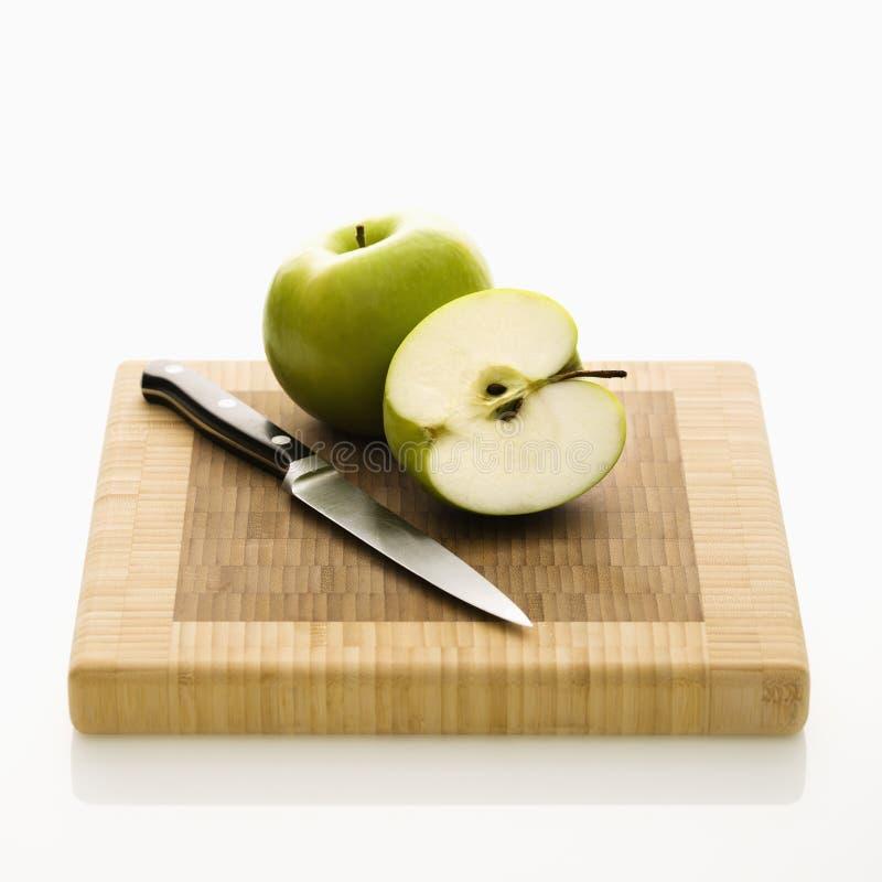 Cut apple. royalty free stock image