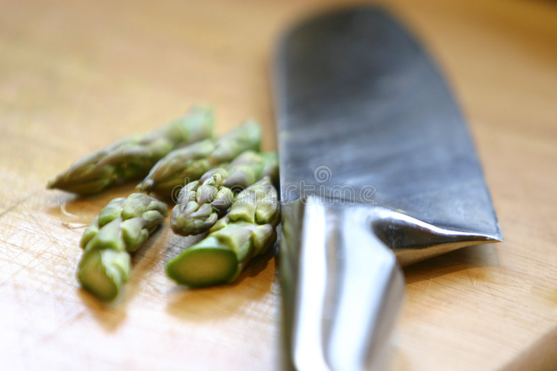 Download Cut Asparagus stock image. Image of block, asparagus, brown - 117589