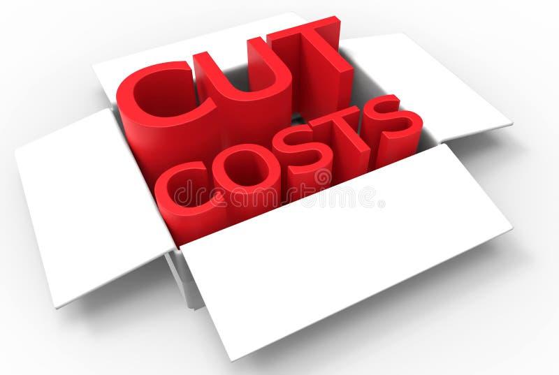 Cut costs concept vector illustration