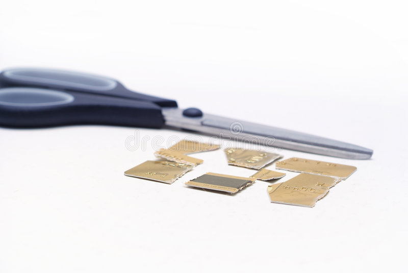 Download Cut credit stock image. Image of poor, finance, card, banking - 2251327