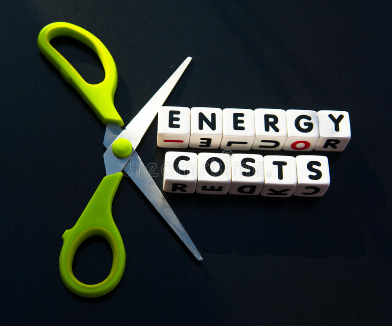 Cut energy costs royalty free stock image